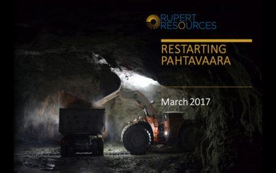 March 2017 – PDAC Presentation